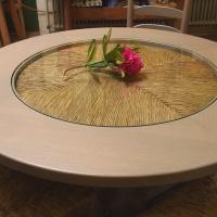 Tisch Garnitur Lübeck mit Binseneinsatz